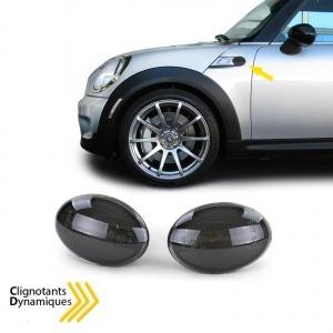 Clignotants repetiteurs LED dynamiques Mini R55-R56-R57-R58-R59 - 06-14 - Noir