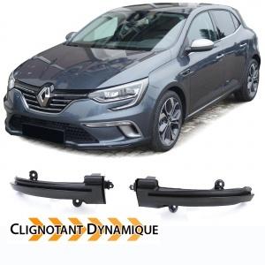 2 Clignotants retro dynamiques LED Renault Megane 4 - Noir