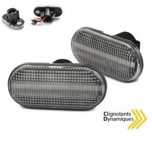 2 Clignotants d'aile dynamiques LED Dacia Renault - Clair