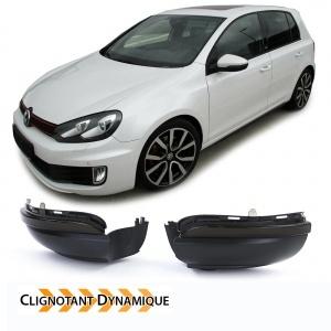 2 Clignotants retro dynamiques LED VW Golf 6 Touran 10-15 - Noir