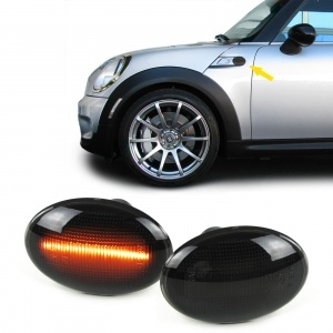 Clignotants repetiteurs LED d'aile Mini R55-R56-R57-R58-R59 - 06-14 - Noir