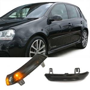 2 Clignotants retro LED VW GOLF 5 Jetta Eos Passat - Noir