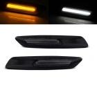 Clignotants repetiteurs LED BMW E60 E61 E90 E91 E92 E81 E82 E87 Look F10 - Noir Fumé