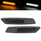 Clignotants repetiteurs LED BMW E60 E61 E90 E91 E92 E81 E82 E87 Look F10 - Carbone Fumé