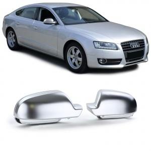 Coques / coiffes retroviseur Chrome Mat pour Audi A3 8P A4 B8 8K A5 8T