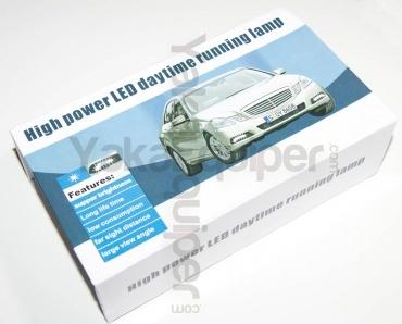 Feux de jour 6 LED Diurne 18cm L style Mercedes - Blanc Xenon