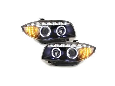 2 phares avant bmw serie 1 e81 e87 led angel eyes 2004 noir yakaequiper. Black Bedroom Furniture Sets. Home Design Ideas