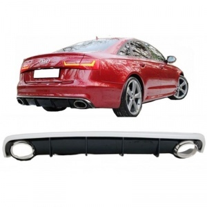 Diffuseur arriere AUDI A6 C7 10-14 - Look RS6