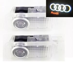 Pack Ghost LED Light Bas de porte - Logo AUDI - Grosse prise