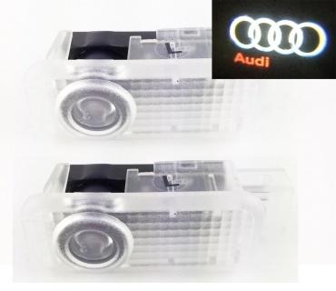 Pack Ghost LED Light Bas de porte - Logo AUDI - Petite prise