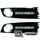Feux de jour LED DRL Ready - AUDI A4 (B6 8E) - Chrome
