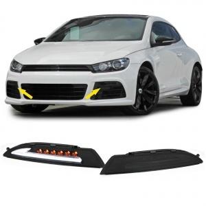Feux de jour LED LTI DRL Ready teinté - VW Scirocco + cligno dynamique - Blanc