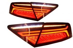 Feux arriere AUDI A7 4G look facelift - Led - Rouge Cerise