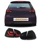 Feux arriere VW Golf 5 03-08 LED dynamiques LTI look G6 - Noir