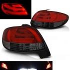 Feux arriere LED LTI Peugeot 206  - Rouge Fume