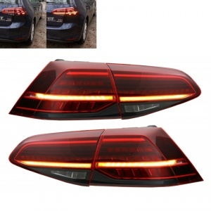 Feux arriere dynamiques VW Golf 7.5 (phase 2) - LED look R facelift - Rouge Fume