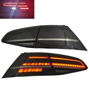 Feux arriere dynamiques VW Golf 7 - LED look R facelift - Noir fume