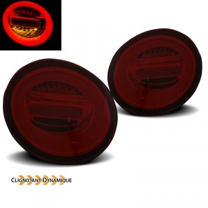 Feux arriere VW New Beetle (3C) fullLED dynamiques - Rouge teinte