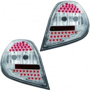 2 Feux Renault Clio 3 LED - 05-09 - Chrome Clair