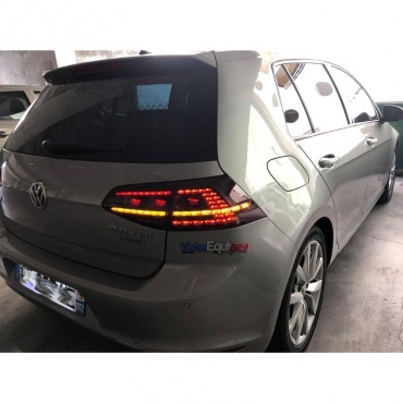 feux arriere dynamiques vw golf 7 led look r rouge yakaequiper. Black Bedroom Furniture Sets. Home Design Ideas