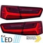 Feux arriere LED AUDI A6 C7 - fullLed Rouge teinté - Dynamiques