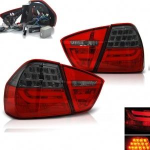 2 Feux arriere BMW Serie 3 E90 05-08 - LTI - Rouge Fumé