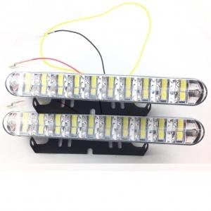 Feux de jour 5 LED Diurne 18cm - Blanc Pur HIGH + Module