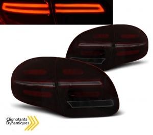 Feux pour Porsche Cayenne fullLED dynamiques 10-15 - Rouge Fume