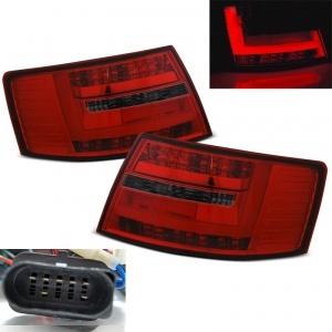Feux arriere AUDI A6 C6 LTI look facelift 04-08 Rouge / Fumé 7pin