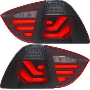 2 Feux arriere BMW Serie 3 E91 05-08 - LTI - Fumé - Rouge
