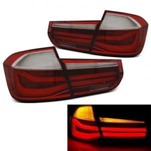 Feux arriere LED BMW Serie 3 F30 - 11-15 - Rouge Blanc