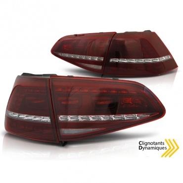 feux arriere dynamiques vw golf 7 led look r rouge. Black Bedroom Furniture Sets. Home Design Ideas