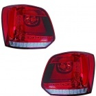 Feux arriere VW Polo 6R 09-14 - LED - Rouge