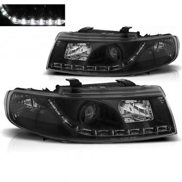 Phares SEAT Leon Toledo 1M 99-04 - Devil Eyes LED - Noir
