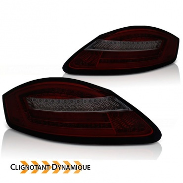 04-08 Dynamic FullLED Porsche Boxster Lights - Red Smokes