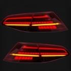Feux arriere dynamiques VW Golf 7 - LED look R facelift - Rouge Fume