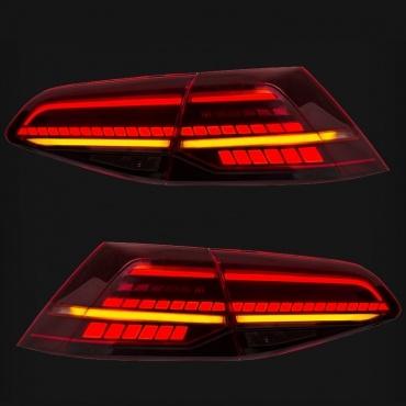 feux arriere dynamiques vw golf 7 led look r facelift. Black Bedroom Furniture Sets. Home Design Ideas