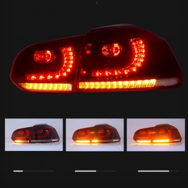 feux arriere vw golf 6 look r20 dynamiques led rouge. Black Bedroom Furniture Sets. Home Design Ideas