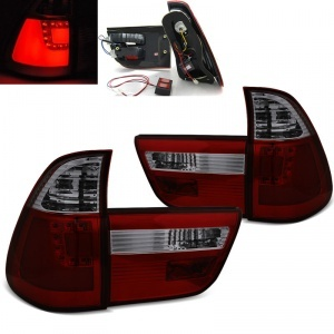Feux arriere LED BMW X5 E53 99-03 - Rouge Fume