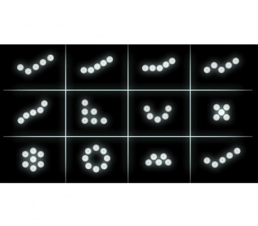 Feux de jour 10 LED Diurne - Blanc Pur - R87