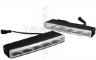 Feux de jour 5 LED Diurne 22cm FLASH - Blanc Pur