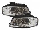 Phares avant Audi A3 8P Devil Eyes LED - Chrome