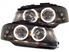 Phares avant Audi A3 8P Angel Eyes LED - Noir