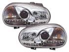 Phares avant VW GOLF 4 Devil Eyes LED - Chrome