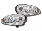 Phares avant VW GOLF 5 Devil Eyes LED - Chrome
