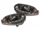 Phares avant VW GOLF 5 Devil Eyes LED - Noir