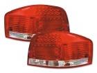 Feux arriere AUDI A3 8P LED 03-07 Rouge / Clair