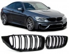 Grilles calandre BMW Serie 4 F32 F33 F36 look M4 - Noir Brillant