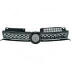 Grille calandre VW Golf 6 (VI) - look GTD- Noir chrome