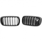 Grilles calandre BMW X5 F15 X6 F16 13-18 camera - Noir Brillant look M